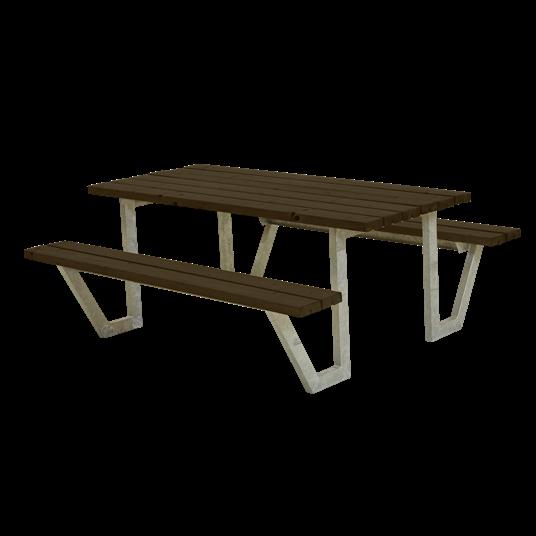 Plus Wega Sitzgruppe 177x161x73/45 cm. Farblich behandelt schwarz