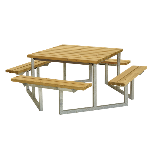 Plus Twist Sitzgruppe 204x204x73/45 cm. unbehandelte Lärche
