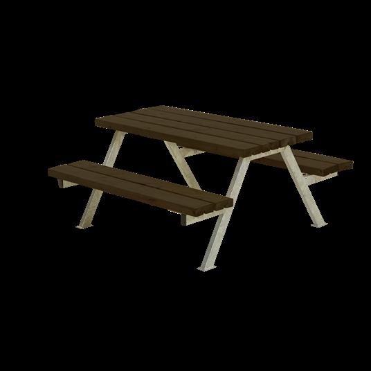 Plus Alpha Junior Sitzgruppe 118x118x57/32,5 cm. Farblich behandelt schwarz