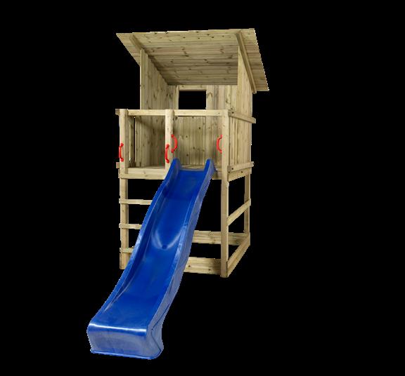 Plus Play Spielturm m/Dach einschl. blauer Rutsche