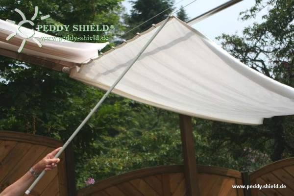 Schiebestock für Seilspann-Sonnensegel - Farbe hellgrau