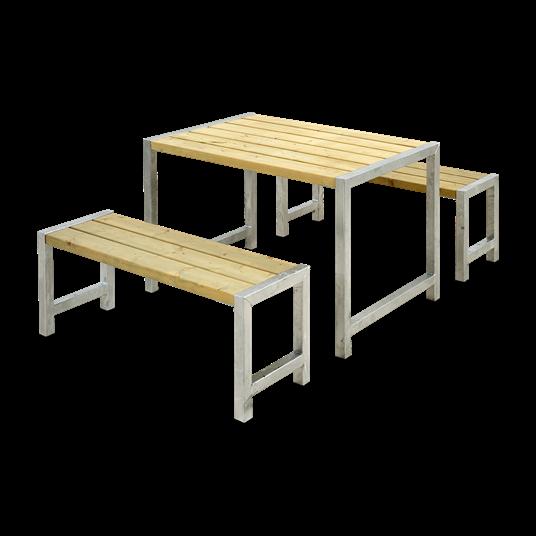 Plus Cafesatz m/Tisch + 2 Bänke