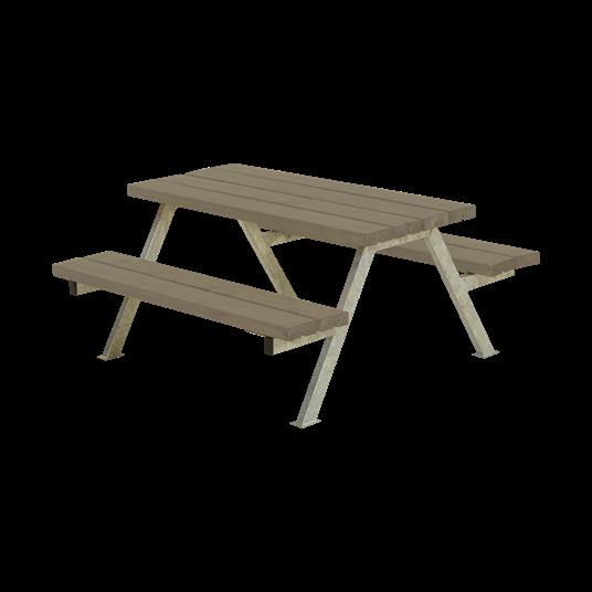 Plus Alpha Junior Sitzgruppe 118x118x57/32,5 cm. Farblich behandelt graubraun