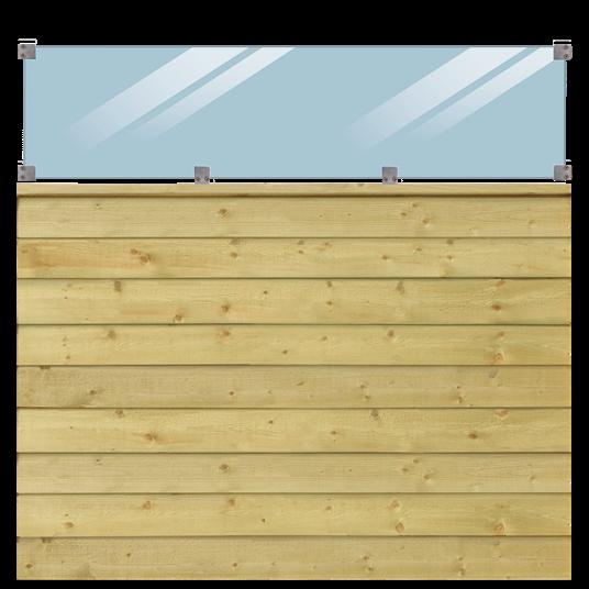 Plus Klink Profil-Zaun inkl. glas 174x163cm inkl. mellemTop-Abschlussbrett