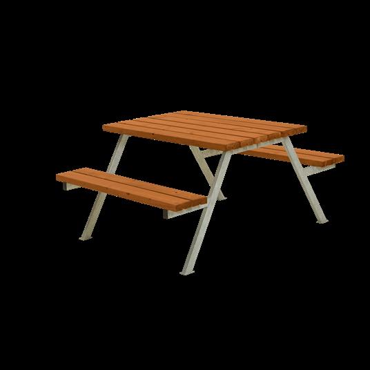 Plus Alpha Sitzgruppe 118x161x73/45 cm. Farblich behandelt teak