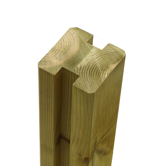 Plus Leimholz Profil-Pfosten 2 Nuten 90x90mm x267cm