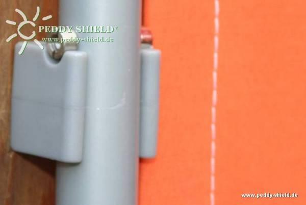 Wand-Clips - 2 Stück - Farbe grau