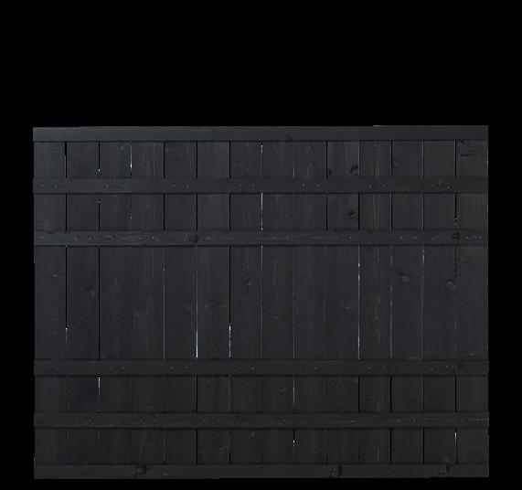 Plus Rustik Zaun 180x138cm - Schwarz