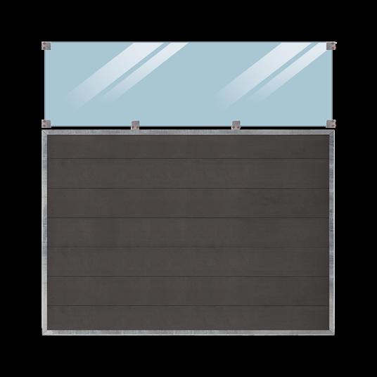 Plus Futura Zaun m/Glas 180x180cm
