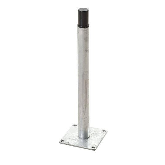 Plus Pfostenfuss für WPC-Pfosten m/Stahlkern zur Montage auf bestehender Terrasse/Fundament