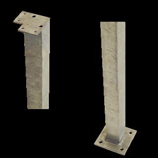 Plus Stahl Eckpfosten m/Fuss f/Geländer 4,5x4,5x103,3 cm feuerverzinkt