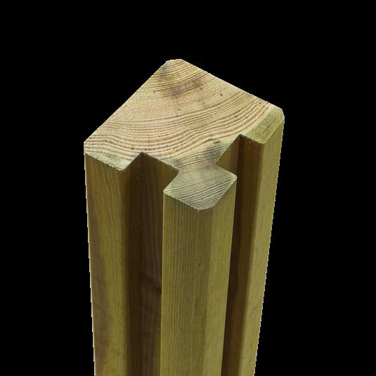 Plus Profil-Pfosten Ecke m/2 Nuten 90x90mm x267cm