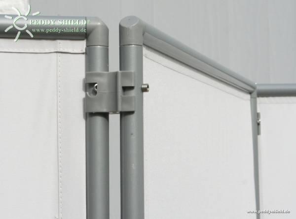 Verbindungs-Clips - 2 Stück- Farbe grau