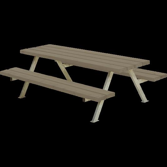Plus Alpha Junior Sitzgruppe 177x118x57/32,5 cm. Farblich behandelt graubraun