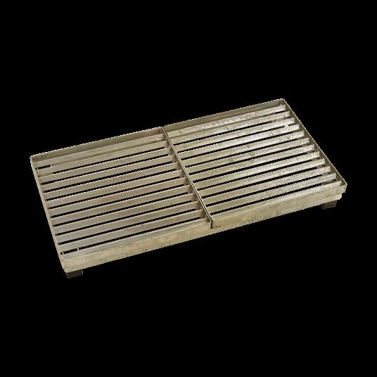 Plus Cubic Rost m/Stahlrahmen m/Höhenverstellung 40x80x9,3 cm.