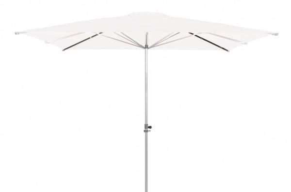 Doppler-Sonnenschirm, Alu Expert, rechteckig ohne Volant, weiß