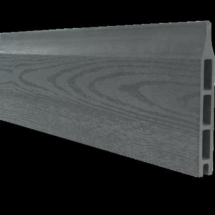 Plus WPC Profilplanke 18x145 mm.x178 cm. Schiefergrau Struktur