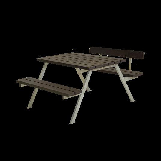 Plus Alpha Sitzgruppe m/1 Rückenlehne 118x173x73/45 cm. recycelter Kunststoff schwarz
