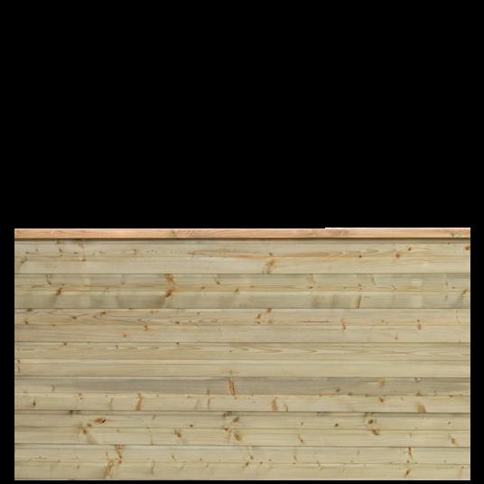 Plus Plank Profil-Zaun f. 174x91 cm inkl. topBrett