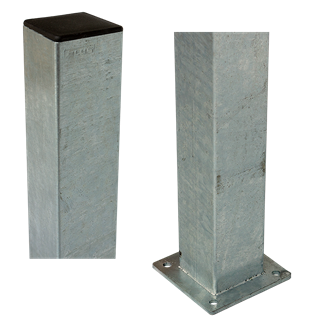 Plus Stahl-Pfosten m/Fuss 8x8x150 cm feuerverzinkt