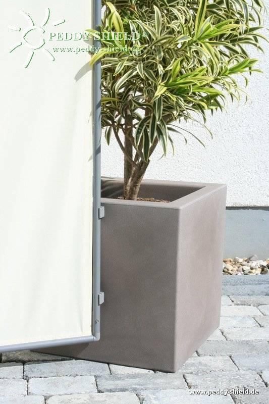 Großer Pflanzkübel für Paravent - Farbe hell siena | HolidayGarden