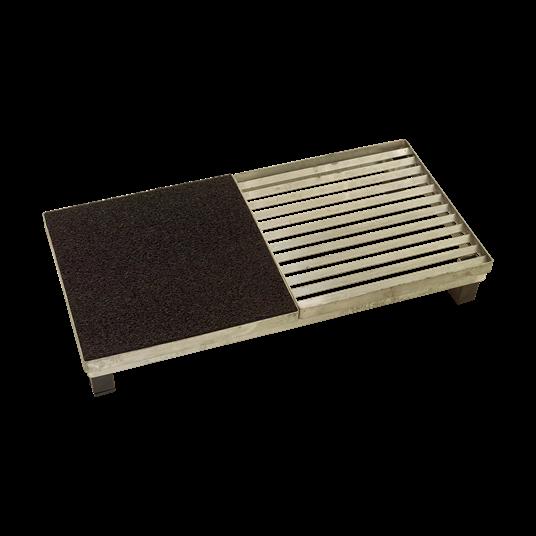 Plus Cubic Rost inkl. Matte m/Stahlrahmen m/Höhenverstellung 40x80x12,3 cm.