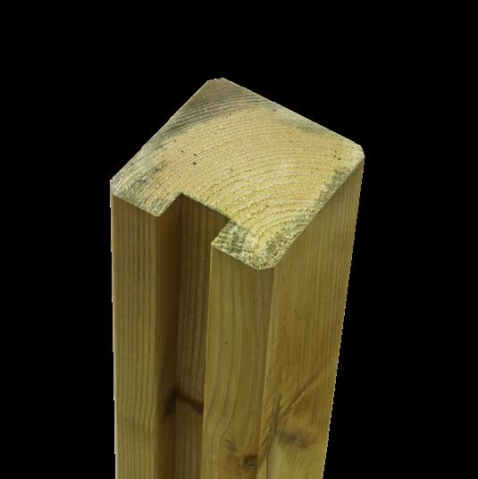 Plus Profil-Pfosten Abschluss m/1 Nuten 90x90xmmx267cm
