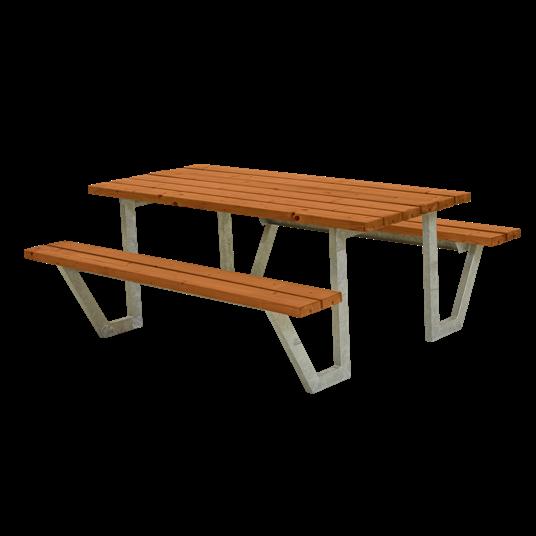 Plus Wega Sitzgruppe 177x161x73/45 cm. Farblich behandelt teak