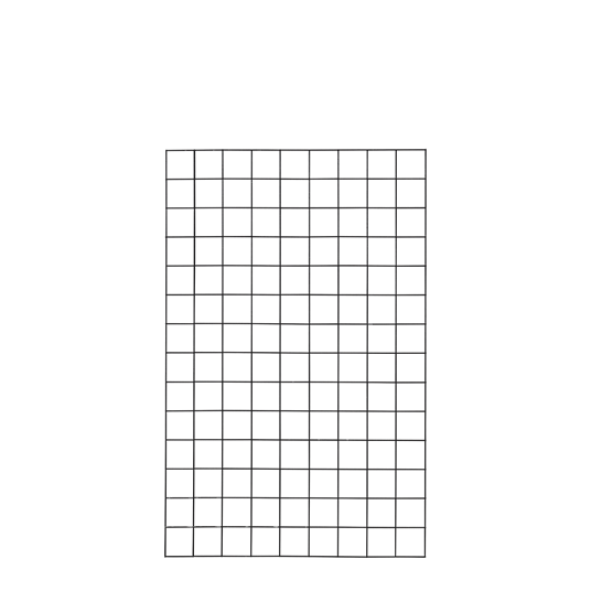 Plus Stahlspalier - 90×140 cm, mit Kanten