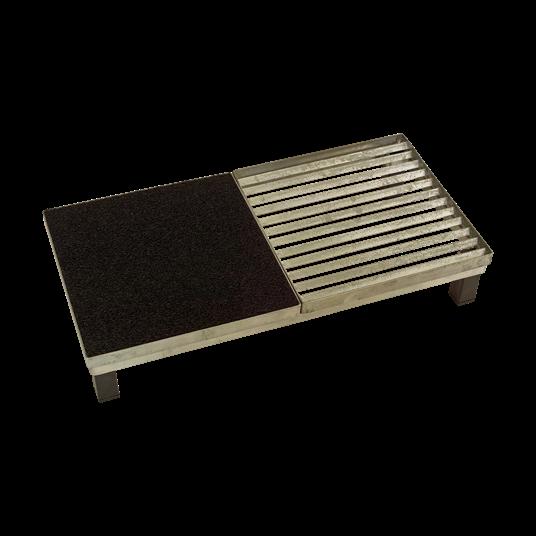 Plus Cubic Rost inkl. Matte m/Stahlrahmen m/Höhenverstellung 40x80x14,8 cm.
