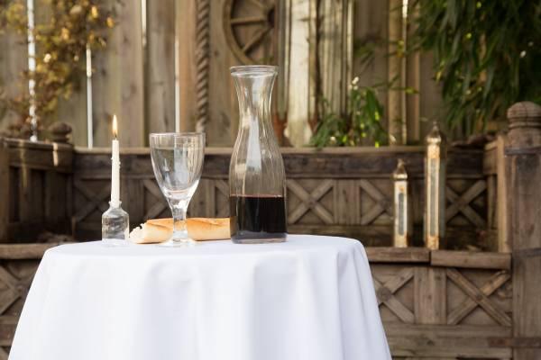 Tischdecke Rund weiß 160 cm