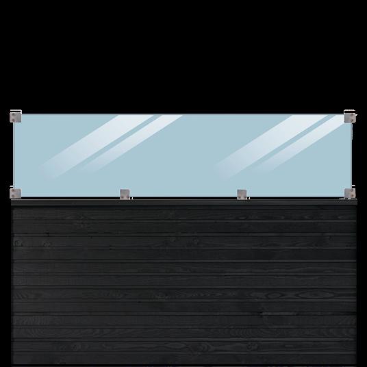 Plus Plank Profil-Zaun inkl. glas 174x125cm