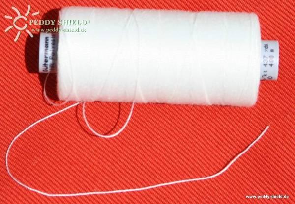 Nähgarn Polyester - Farbe rohweiß