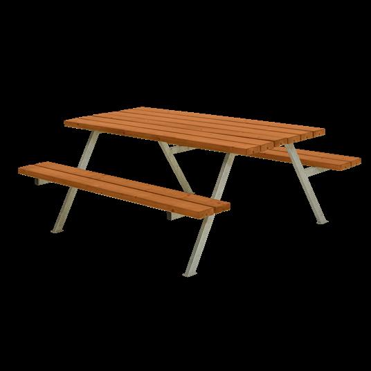 Plus Alpha Sitzgruppe 177x161x73/45 cm. Farblich behandelt teak