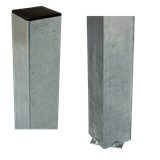 Plus Stahl-Pfosten feuerverz. 80x80mm x268cm zum Eingraben