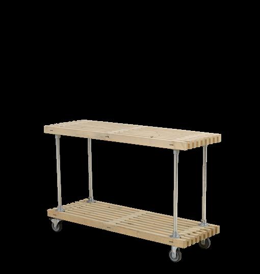 Plus Latten Grill-/Beistelltisch mit Rädern 140x49x90 cm - Treibholz
