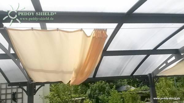 Sonnensegel 270 x 140 cm - Farbe hell elfenbein