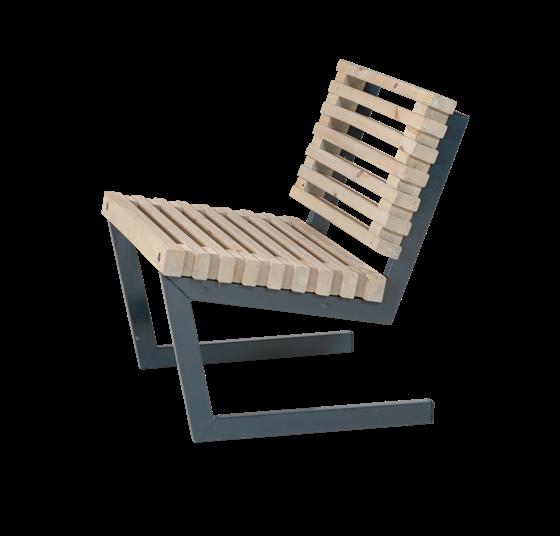 Plus Siesta Sessel: L: 80cm Rückenhöhe 75cm Sitzhöhe 35/43cm