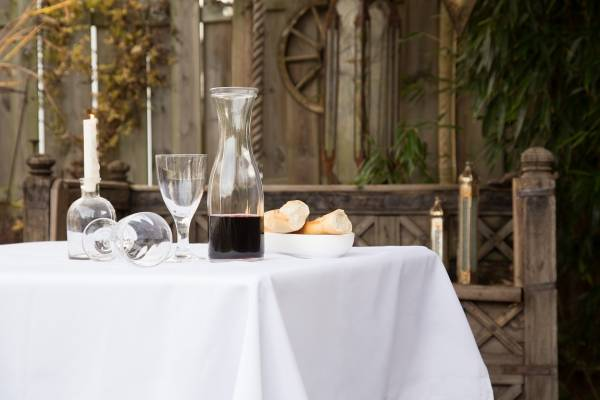 Tischdecke weiß 110 x 140 cm