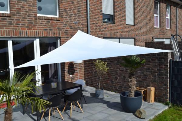 Dreiecksonnensegel 360 cm - Polyester - Farbe weiß