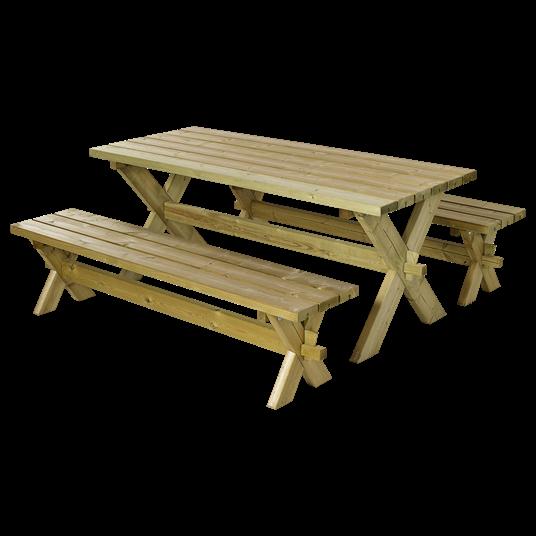 Plus Nostalgie Set - Tisch + 2 Bänke