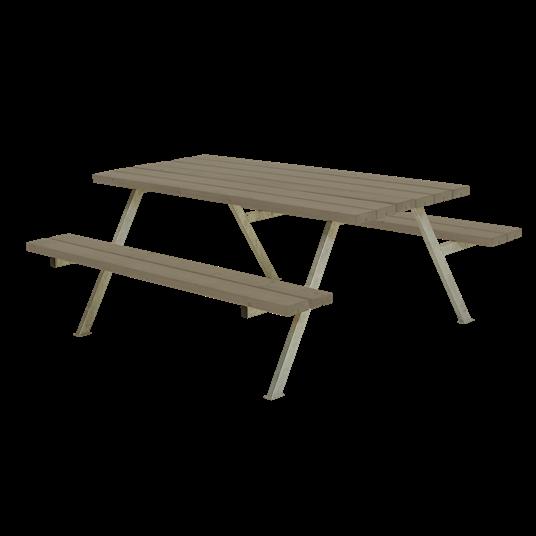 Plus Alpha Sitzgruppe 177x161x73/45 cm - Farblich behandelt graubraun