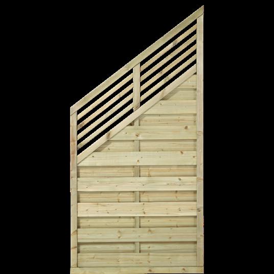 Plus Newline Stufenelement m/Gitter 90x180/110 cm