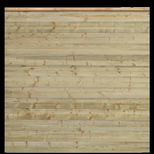 Plus Plank Profil-Zaun f. 174x166 cm inkl. topBrett