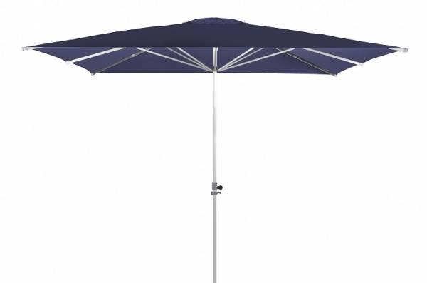 Doppler-Sonnenschirm, Alu Expert, rechteckig ohne Volant,dunkelblau