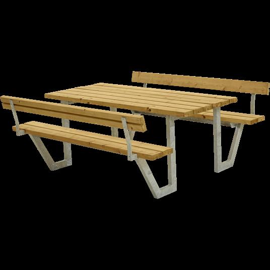 Plus Wega Sitzgruppe m/2 Rückenlehnen 177x185x73/45 cm. unbehandelte Lärche