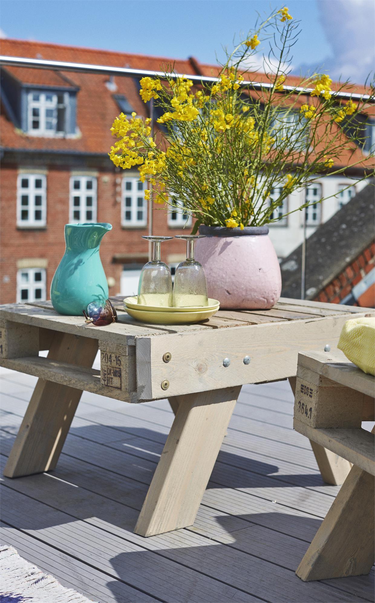 Europaletten Sofa Tisch Klein Holidaygarden