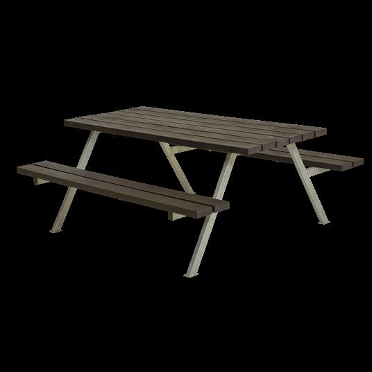 Plus Alpha Sitzgruppe 177x161x73/45 cm. recycelter Kunststoff schwarz