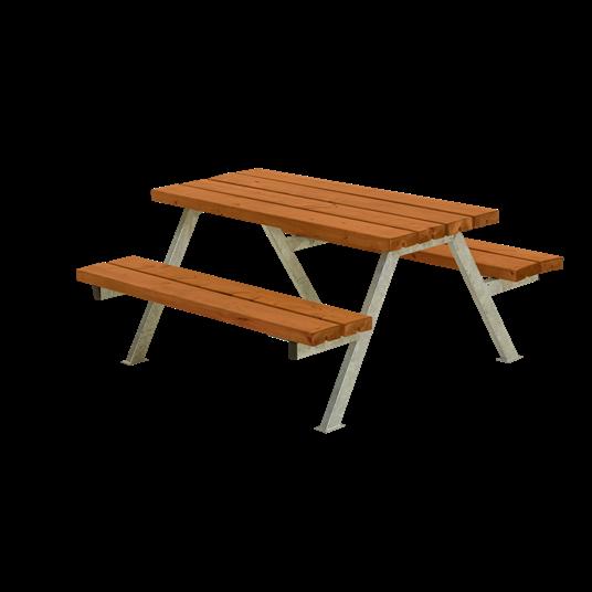 Plus Alpha Junior Sitzgruppe 118x118x57/32,5 cm. Farblich behandelt teak