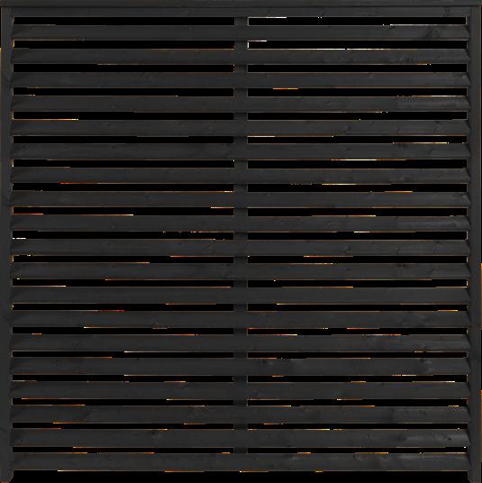 Plus Kyoto Zaun 160x160 cm - schwarz behandelt